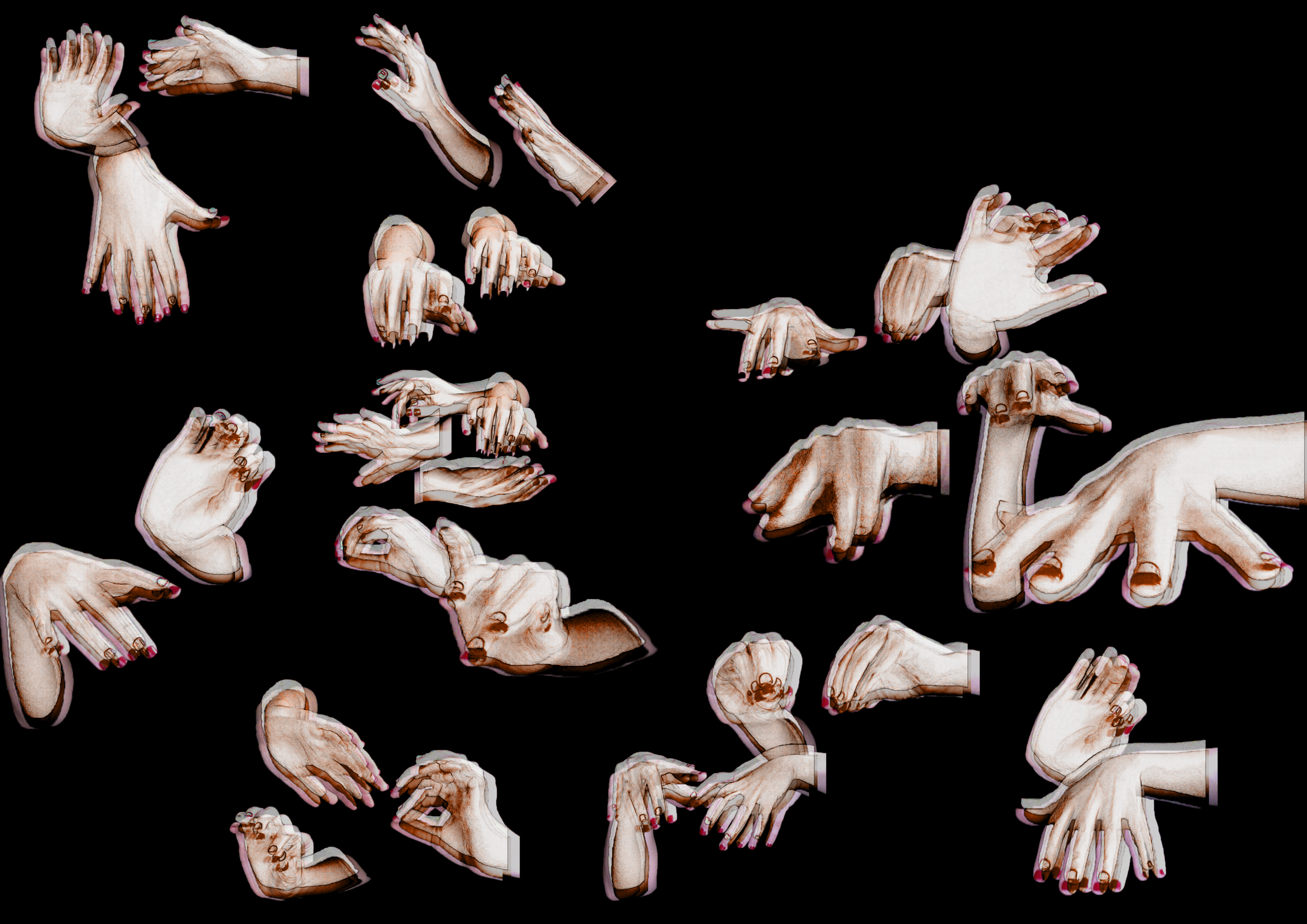 Hands Collage - Sign Language Experiment