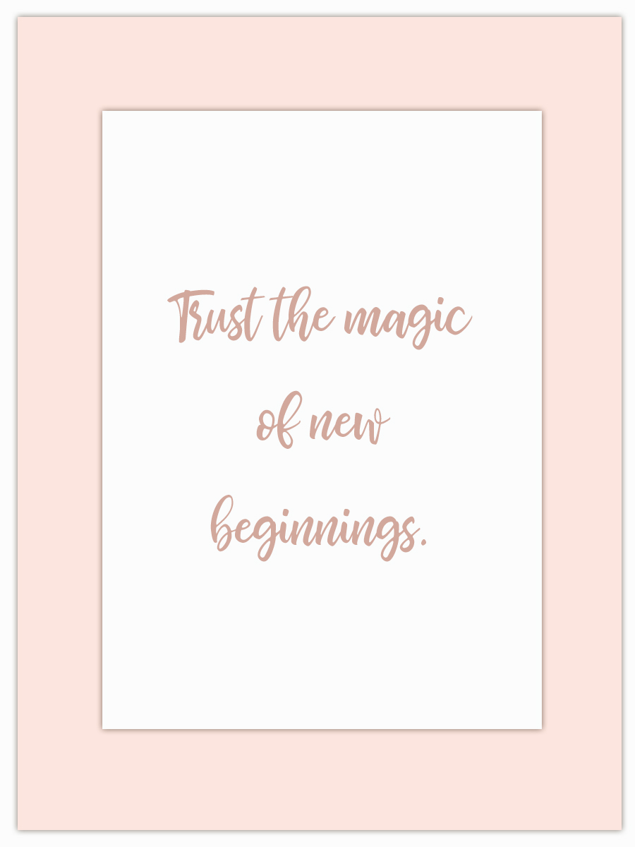 Let my Monday Muse motivate you throughout the week! - New beginnings can be a little daunting for some… but not if you trust the magic!