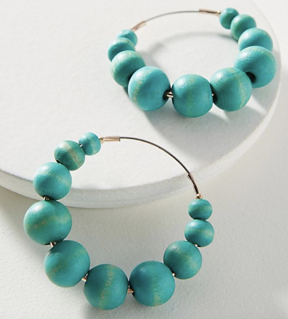 you know how you just know when you know? these beaded hoops are 100% outside of my large scaled tassel dangle comfort zone, but something about them draws me in. I can already picture them on me, without even seeing them in person. talk about a great way to add life to a neutral fall outfit.