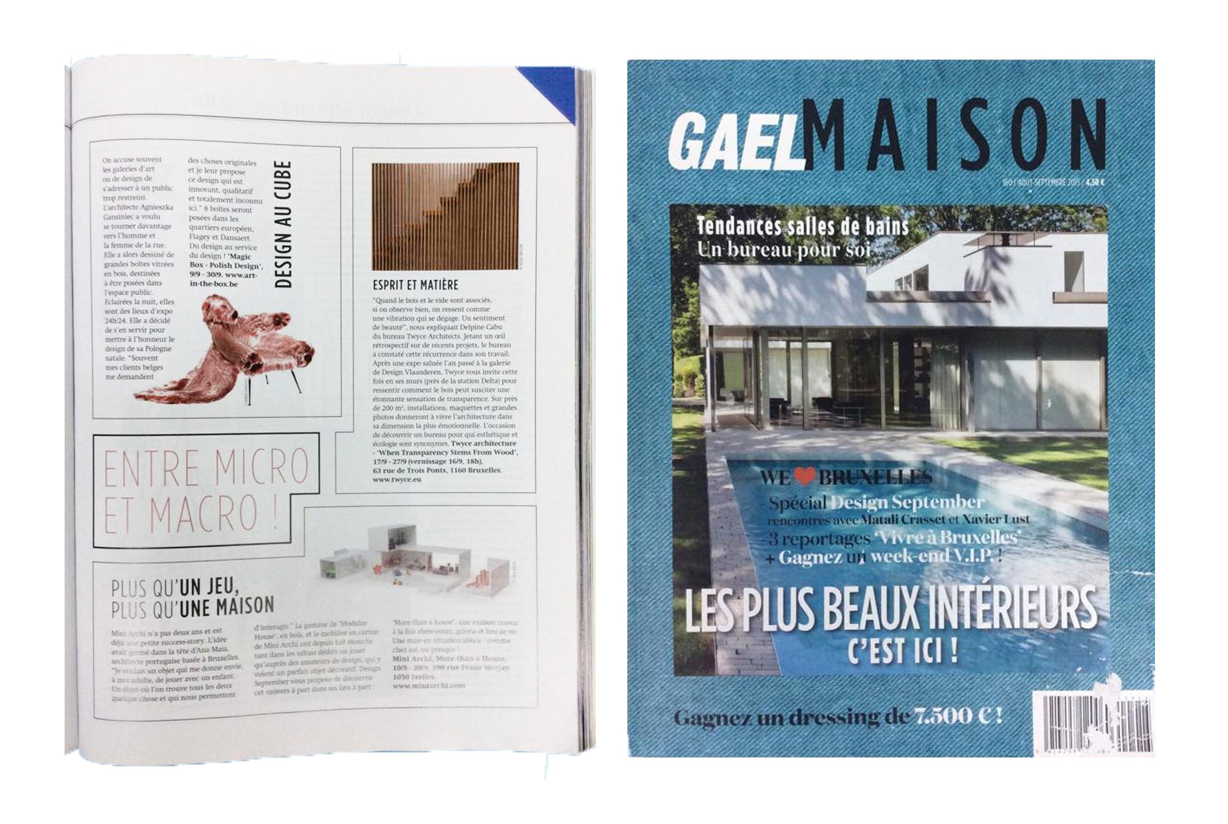 Gael Maison - Gael Maison BelgiumSeptember 2015