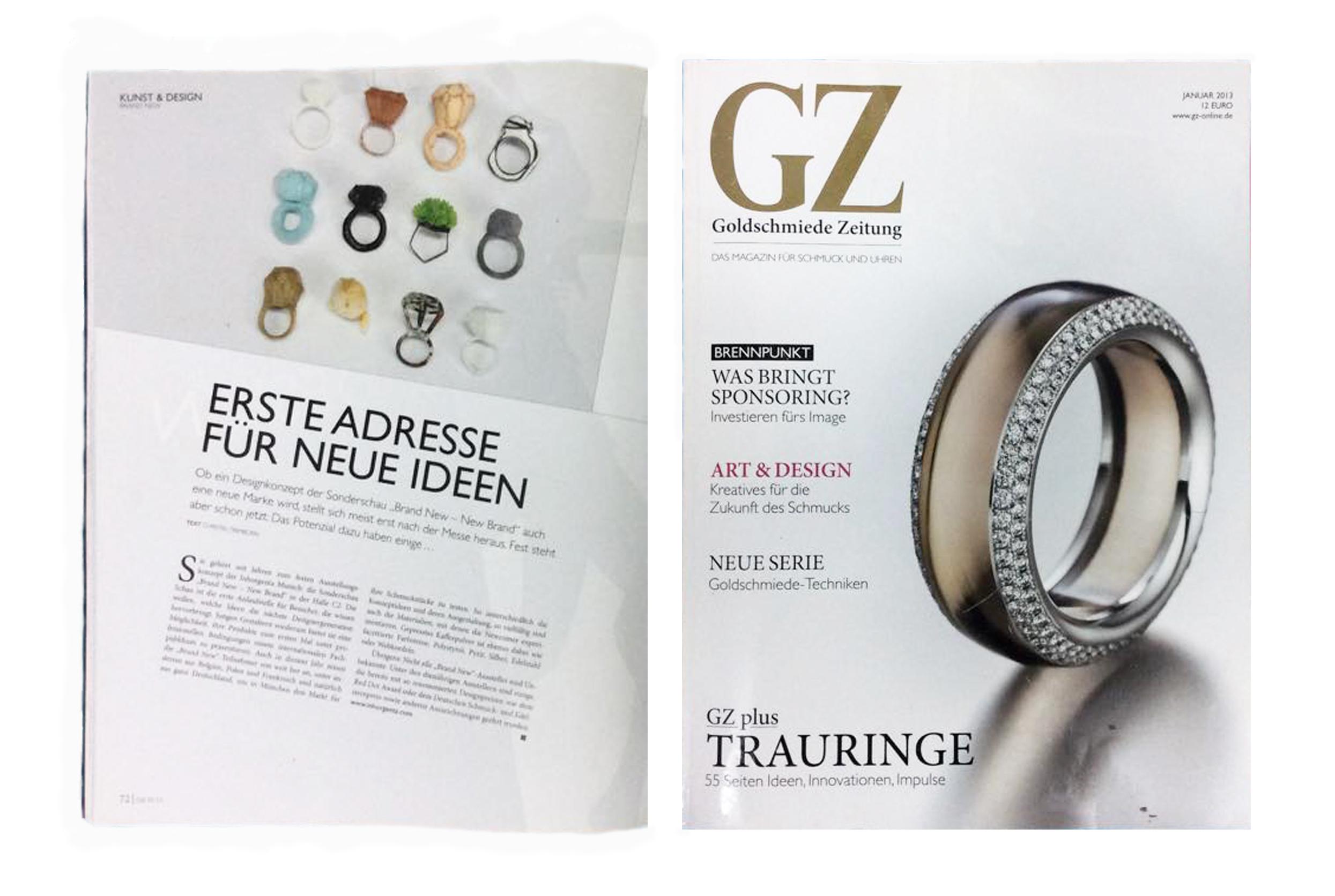 Goldschmiede Zeitung - Goldschmiede Zeitung MunichJanuary 2013