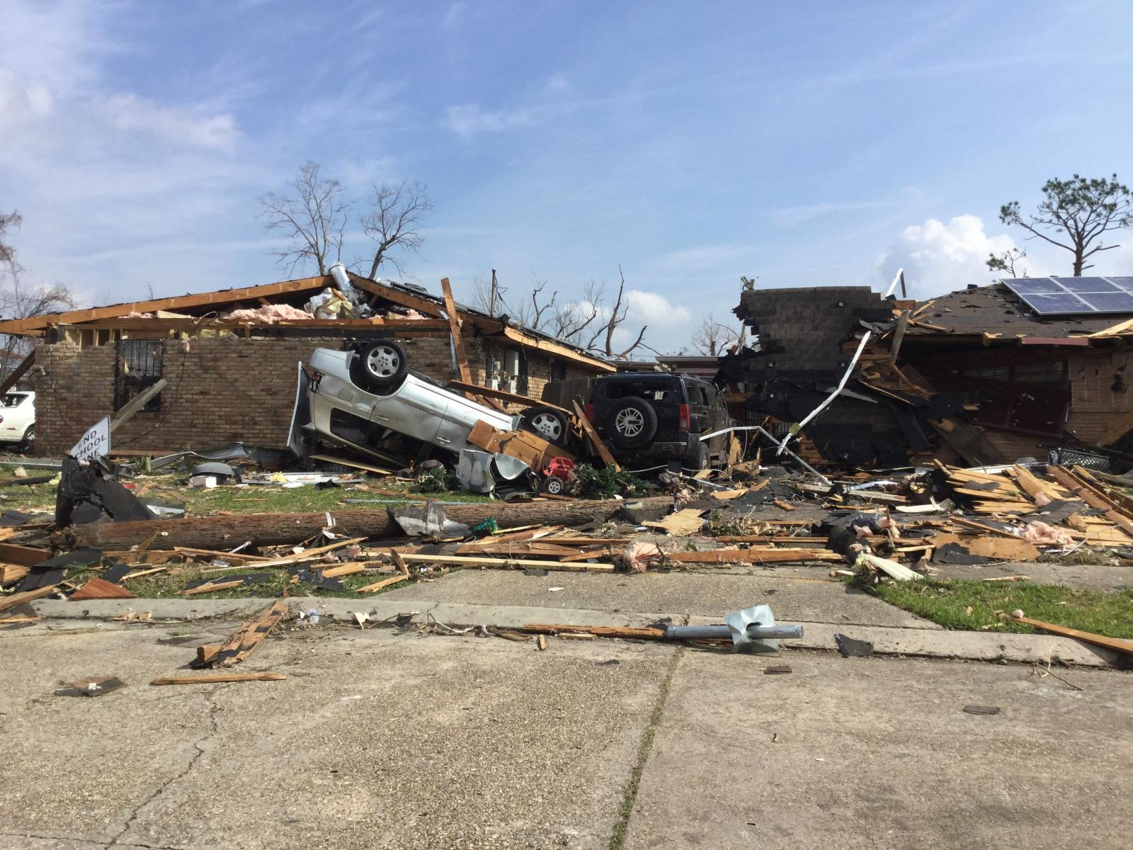 FEB. 2017 TORNADO - An EF3 tornado hit New Orleans east in Feb 2017 destroying homes, leaving thousands without power, and causing over $2.7 million in damages. We led over 240 volunteers in recovery efforts ranging from clearing debris to cleaning out homes.