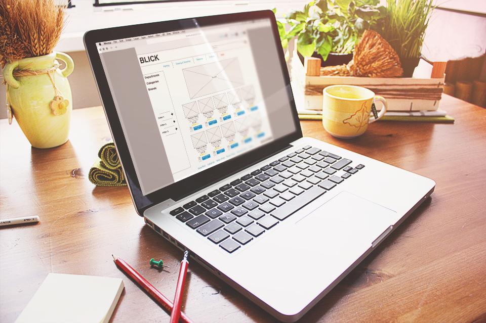 Blick E-Commerce Website Redesign, 2017