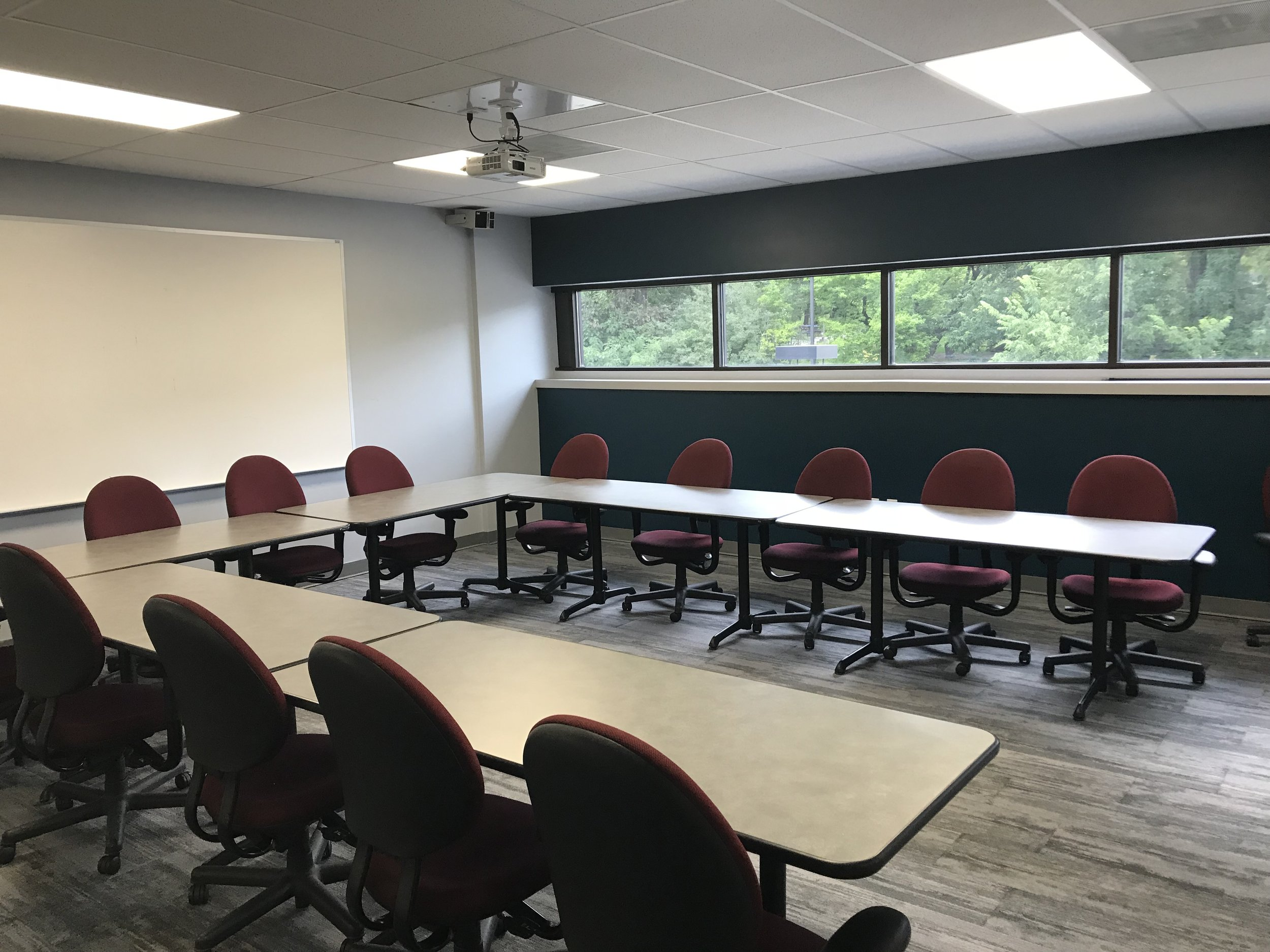Training room with projector