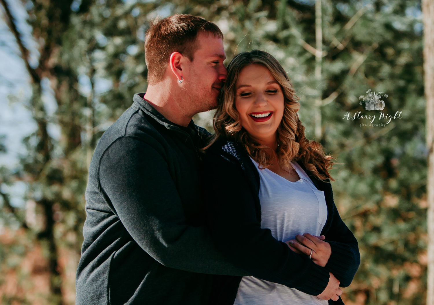 Engaged couple near Dow Gardens in Midland MI for their Engagement Couples Sesson