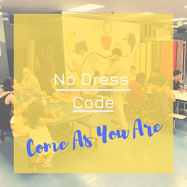 We don't have a dress code at our church because we want everyone to feel welcomed. See you Sunday at 10:45am! #baltimore #dresscode #hospitality #allwelcome #lovepeople #lovebaltimore #gospel #multiethnic #crosscultural #churchplanting #church