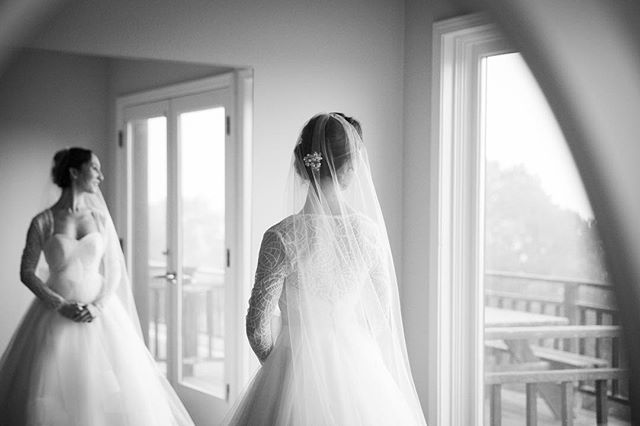 A moment of reflection before saying her vows @christinasayu at the gorgeous @fogartywineryevents with @daylikenoother