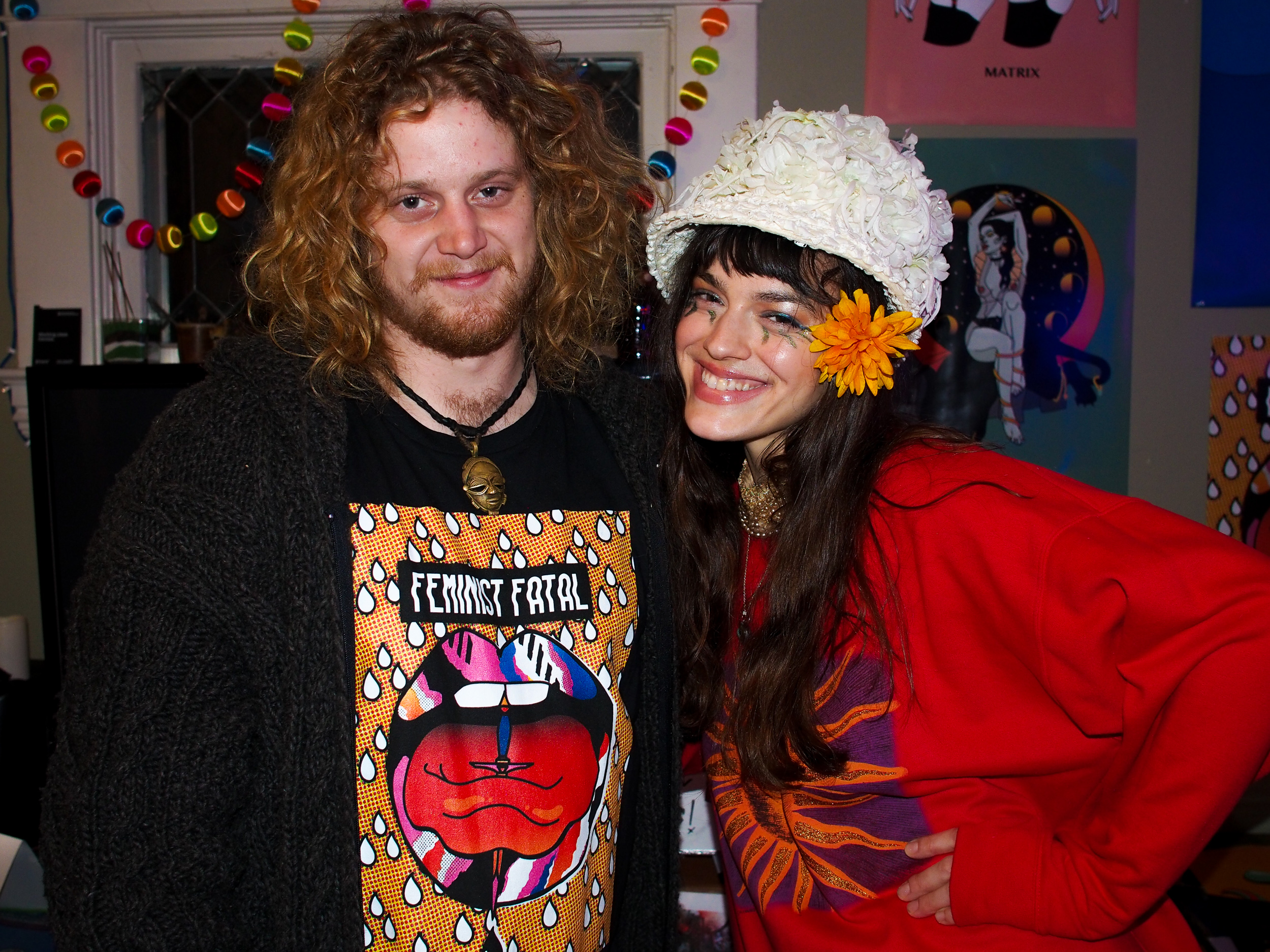 Psych rock wunderkinds Anders $kjell of Queen Son (queen__son) and Whitney Moore of Snake Dance (@snakedancepdx)