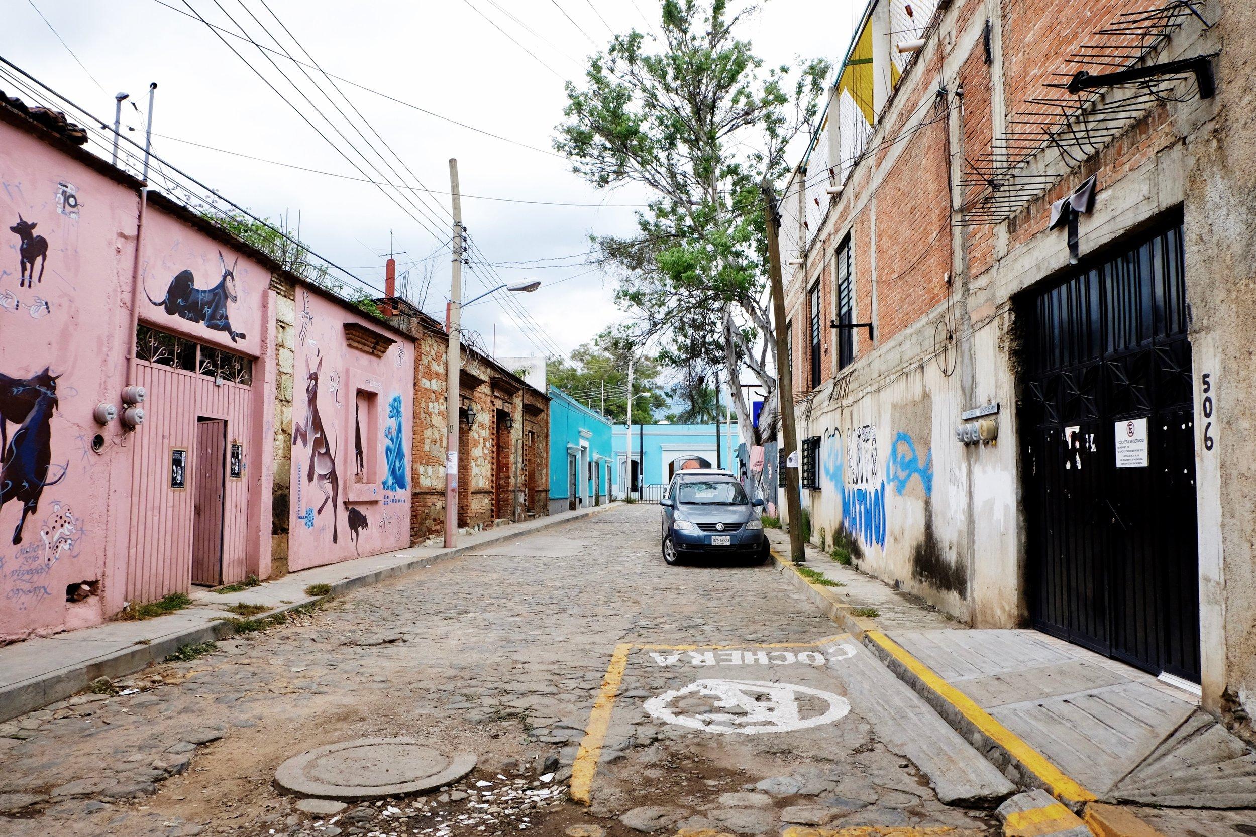 The decorative street Tierra Blanca lives on.