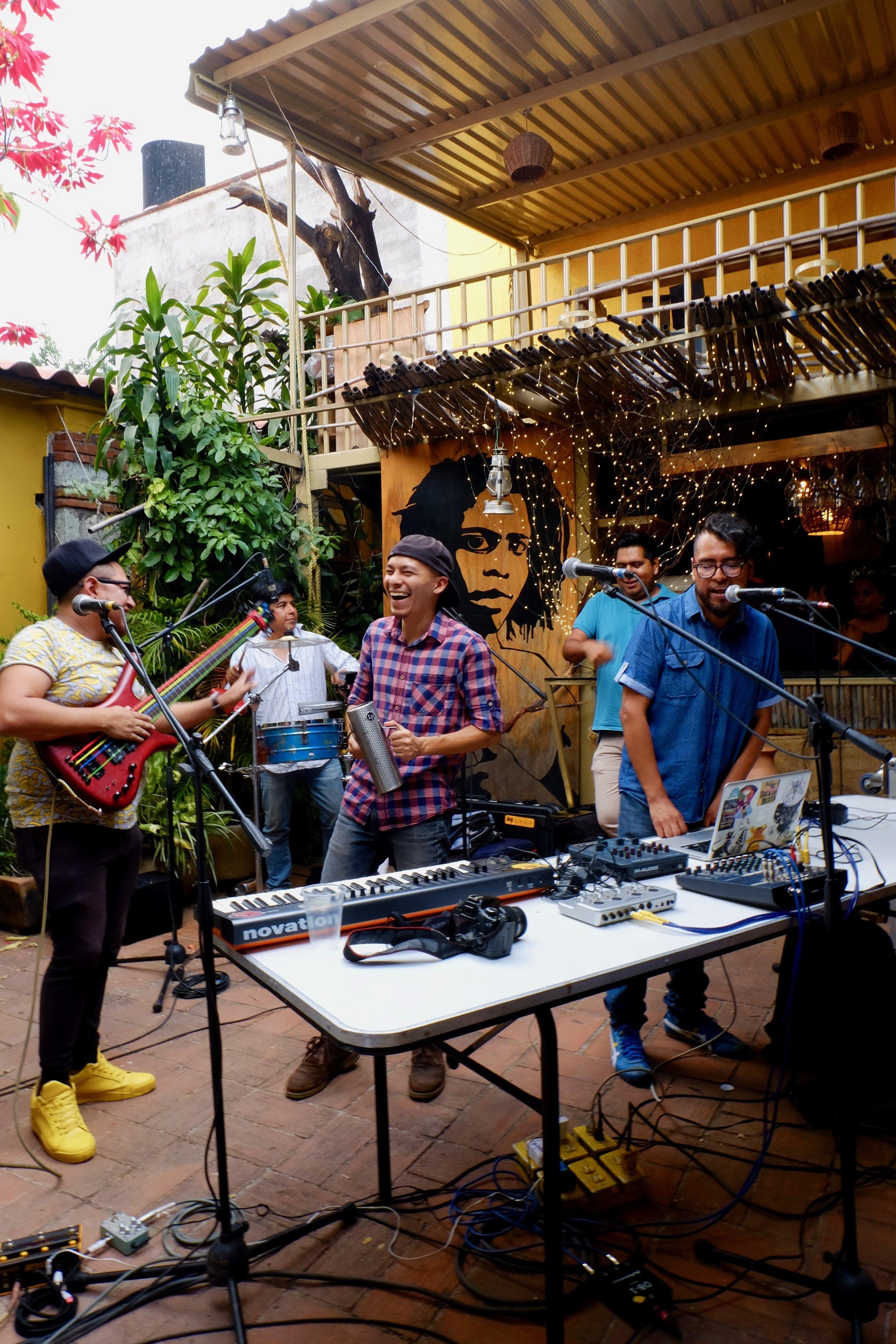 Live music should be mandatory at a beerfest. Oaxaca gets it.
