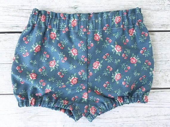 Last pair!! Size 3/6 months. These bloomers are handmade from vintage cotton $11 on the website