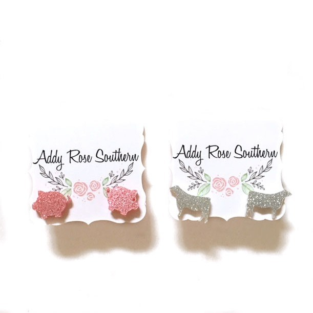 Amazon Prime who...?! Have you seen our sales yet?? And everything is handmade 😘 no coupon code needed. These fun glitter earrings are only $5 each