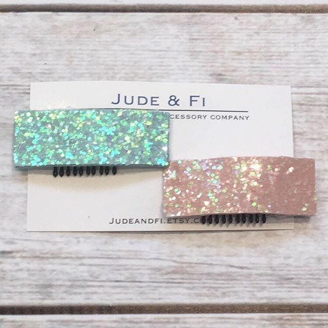 We're just about sold out of the glitter clips!! 😱
