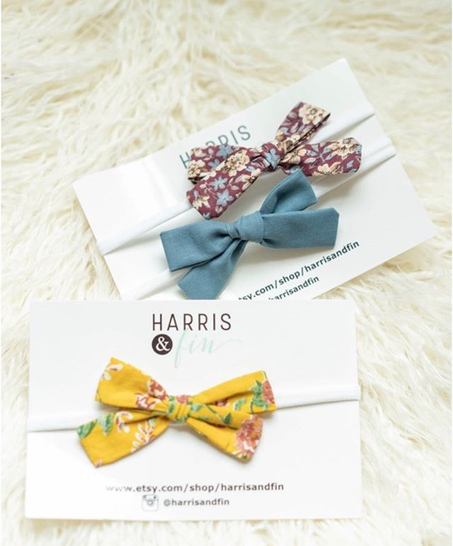 Have you grabbed some bows yet? These are all hand tied and sewn from vintage cotton 💛