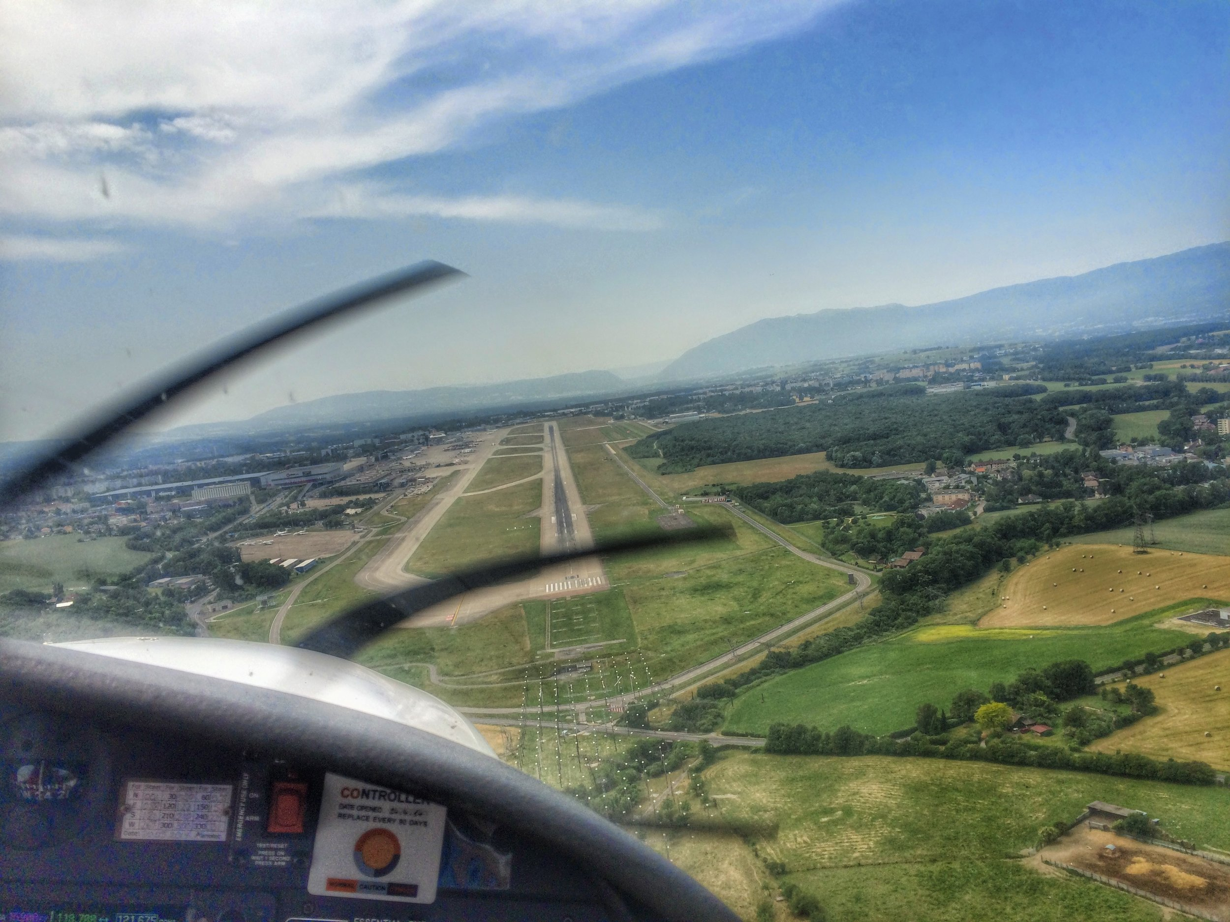 Final Approach for 23 concrete at Geneva