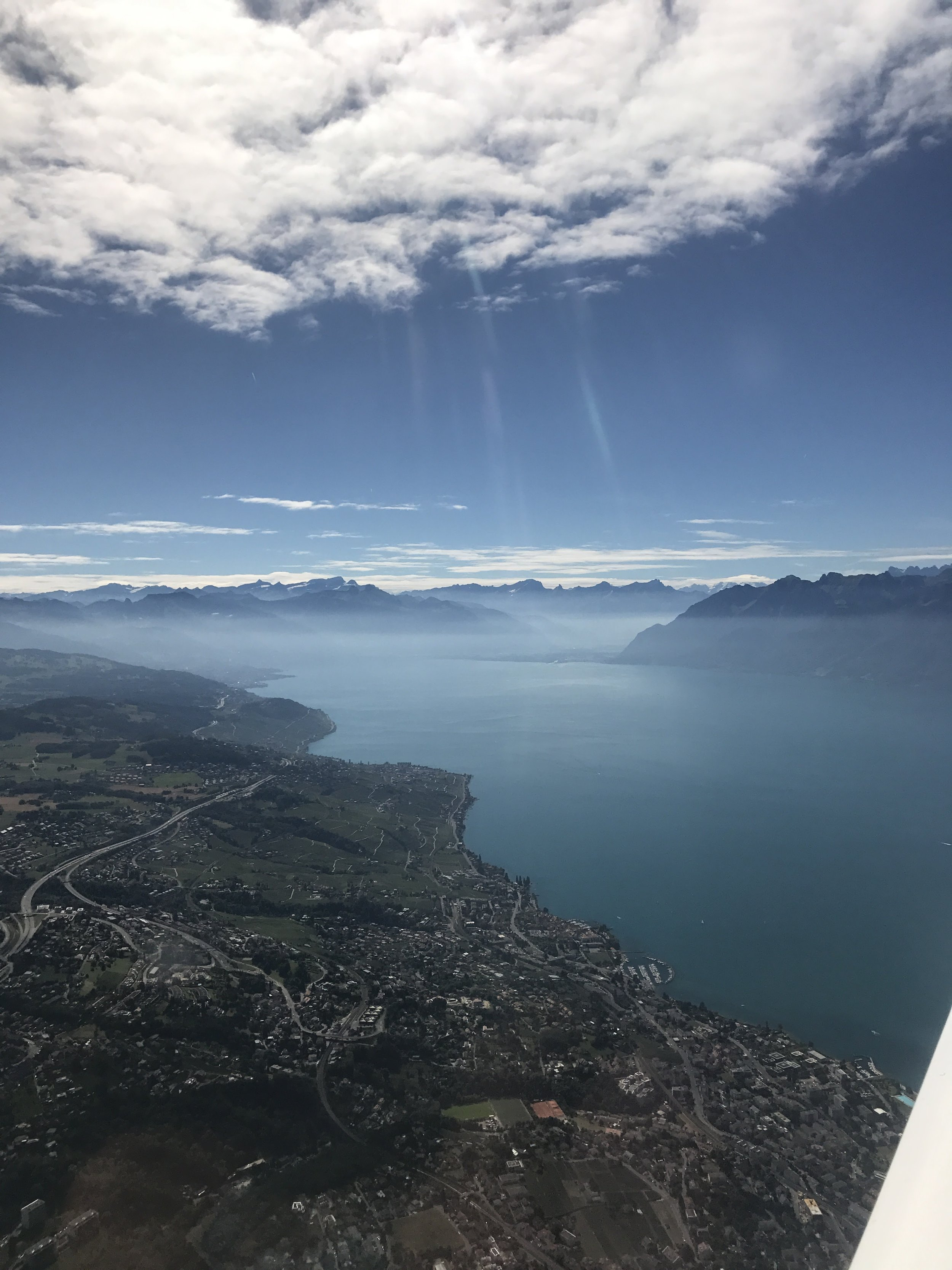 - Lake Geneva, looking to the East