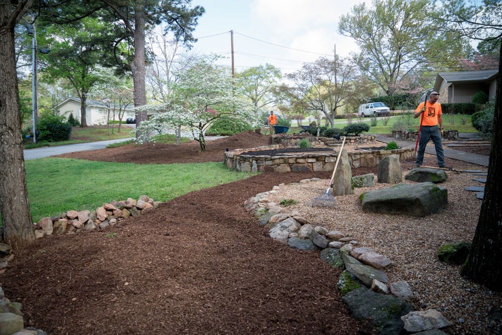 Applying Mulch to an Existing Landscape