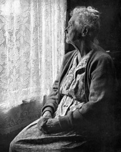 Senior isolation contributes to health decline.  Photo by Chalmers Butterfield.