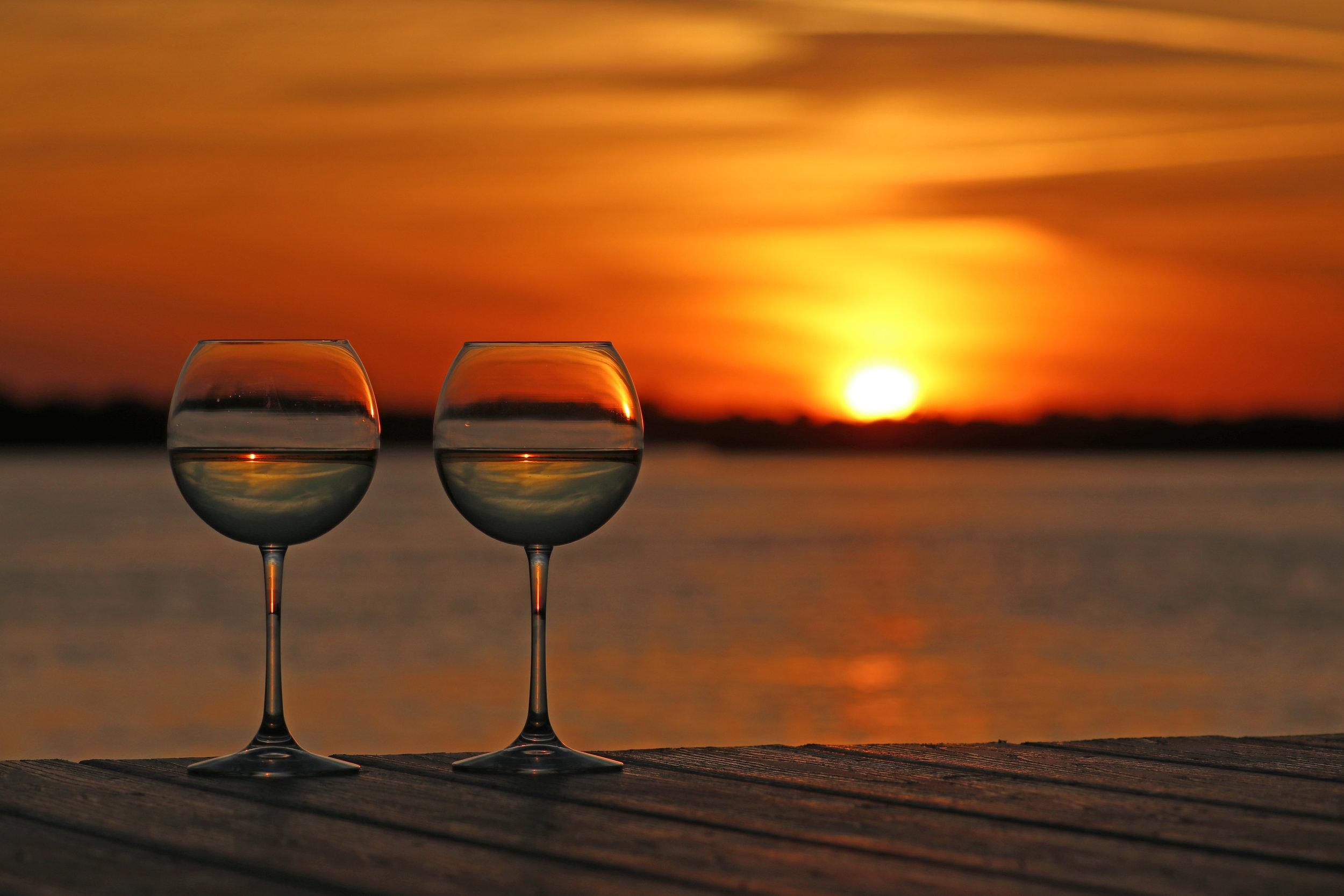 Vino at sunset