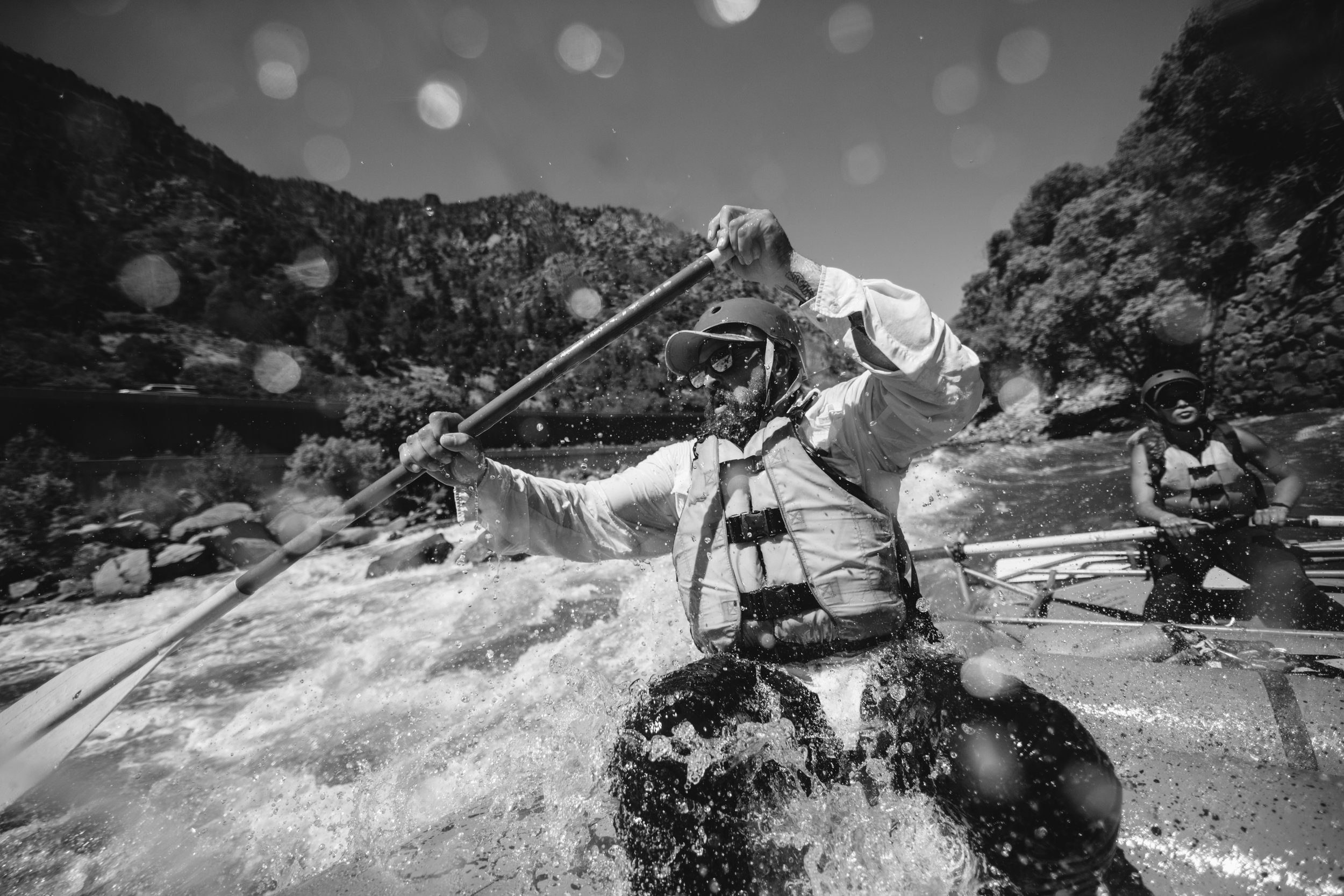 Wet times on the Shoshone section of the Colorado River in Glenwood Canyon.