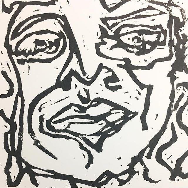 New 'Someone's stolen her dairylea dunker and Sandra's silently seething' Linocut prints coming soon! Check out my other prints on my Etsy, link in bio 😜 . . . . . #prints #printmaking #linocut #linocutprint #presents #dryjanuary #januarydiet #illustration #ukartists #etsyseller #etsyselleruk #etsysellersuk #dontlookbutt
