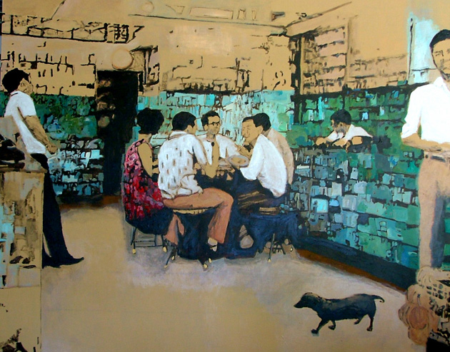 Sue Michael,  Hong Kong Pharmacy, 2006, acrylic on canvas, 120 x 150 cm