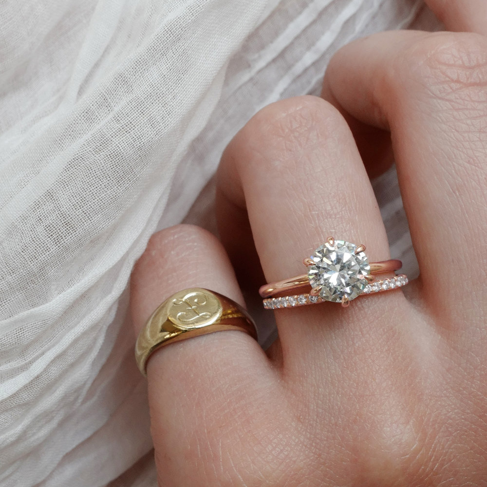 Rush order For engagement ring Wedding band