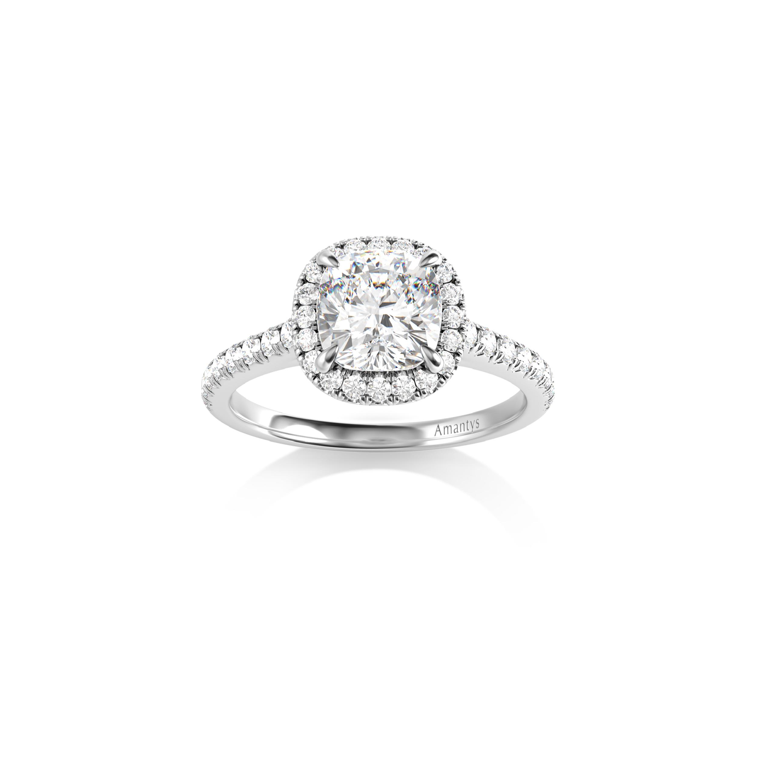 bague diamant taille coussin