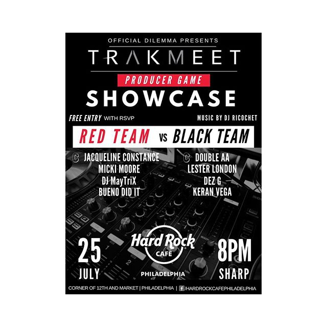 And once again it's on... and I'm driving the boat this time lol the Red team is coming... plus I get to go up against my bros @iamdouble_aa and @iamlesterlondon ... we're going to have a good time!! meet me here July 25th The Trakmeet @hardrockphilly ... last two events sold out... RSVP TODAY!!! S/o to @officialdilemma for letting me come back... #DopeAzzMusic #JacqConMusic
