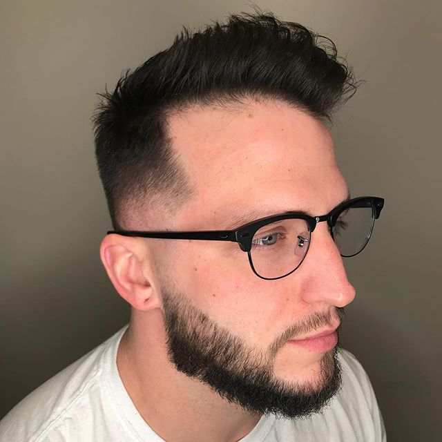 Let your hair do the talking. Shout out to _williamjamesfloyd for keeping it handsome. 👓💇🏻♂️🕺🏻 #MensCuts #TheKnottyGroom #HouseofHandsome