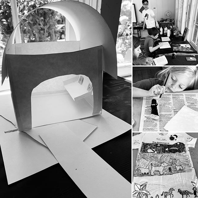 Summer Camp {4} 3D, BLK&WHT moments. Thank you Artists for our special moments. Thank you @jennifer.wolpert @lkharts @sophiavarnai #lafayetteca #localart#summerartcamp91