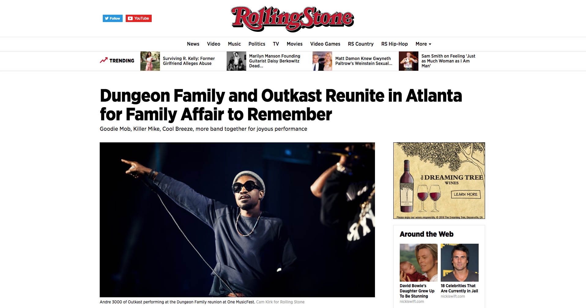 Dungeon Family & Outkast for Rolling Stone Magazine, Sept. 2016