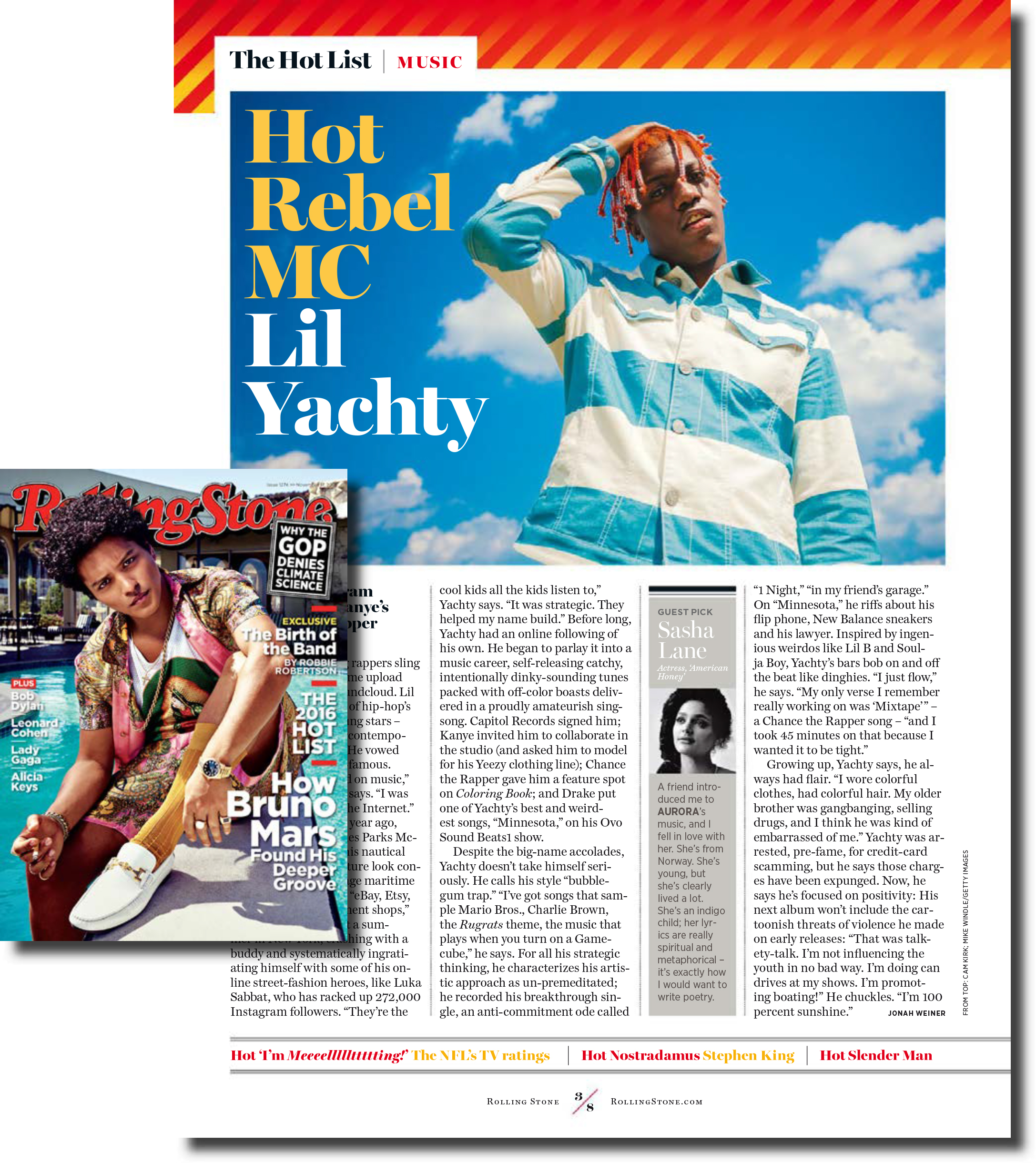 Lil Yachty for Rolling Stone Magazine Issue 1274 Nov. 2016