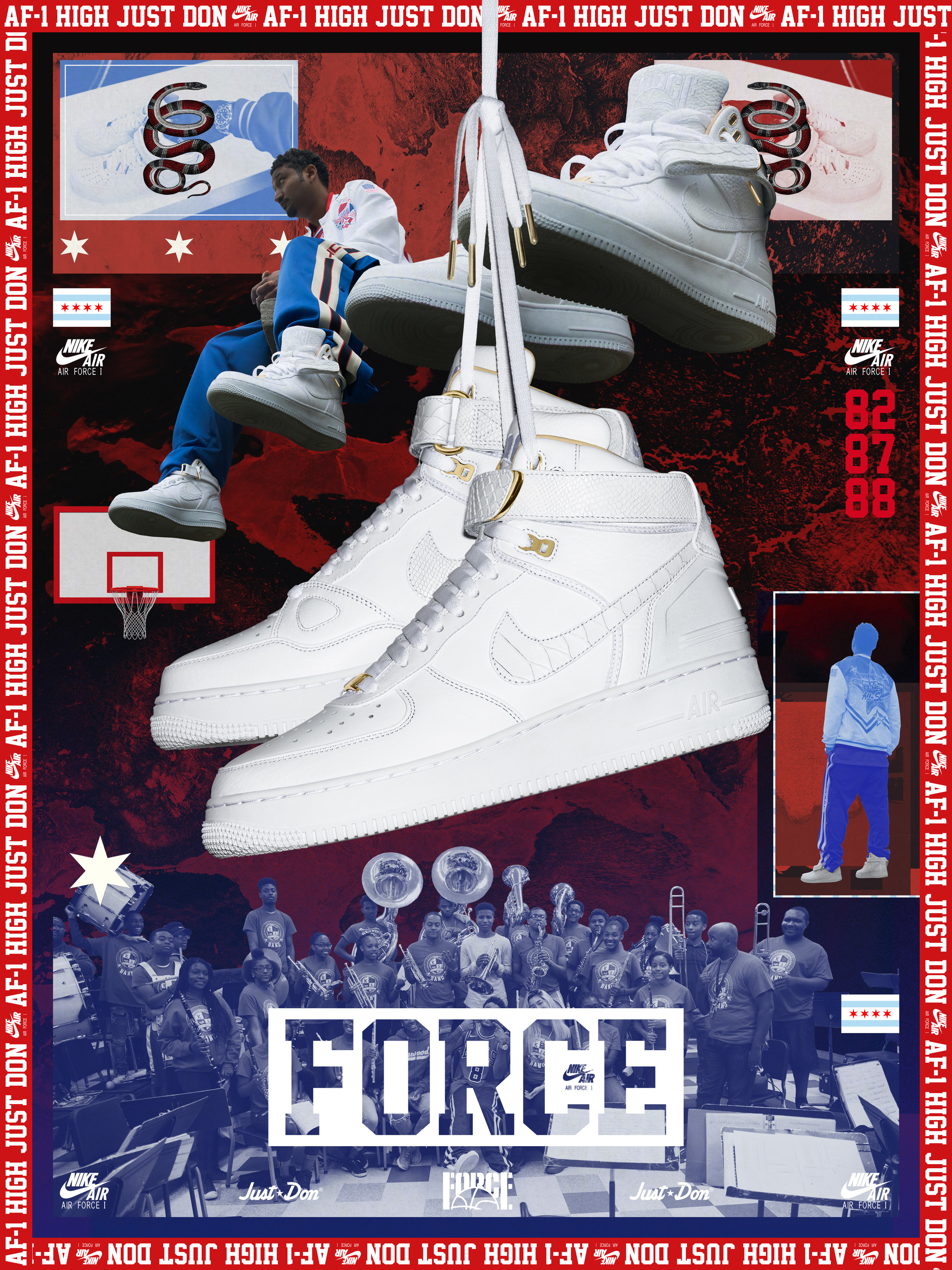 Don C for Nike AF100 Campaign, 2017    (click to see more)