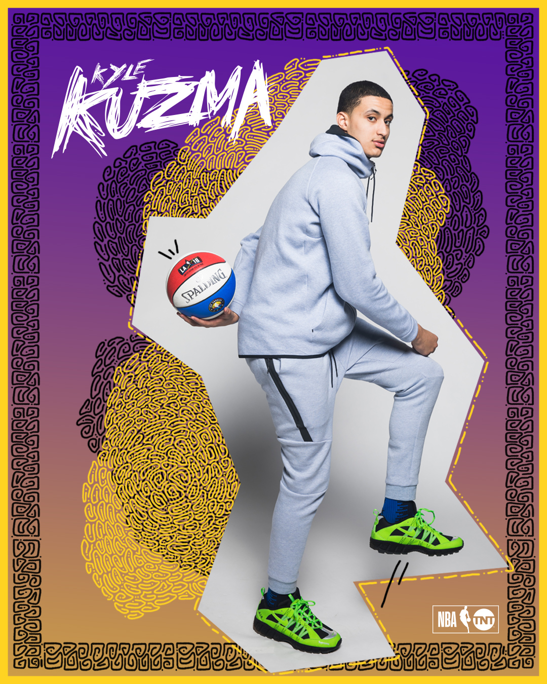 Kyle Kuzma for NBA TNT, All Star Weekend 2018    (click to see more)