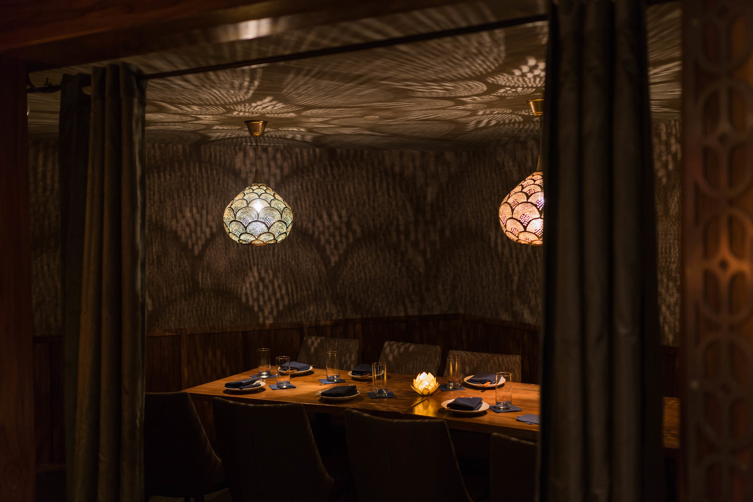 more private dining area.