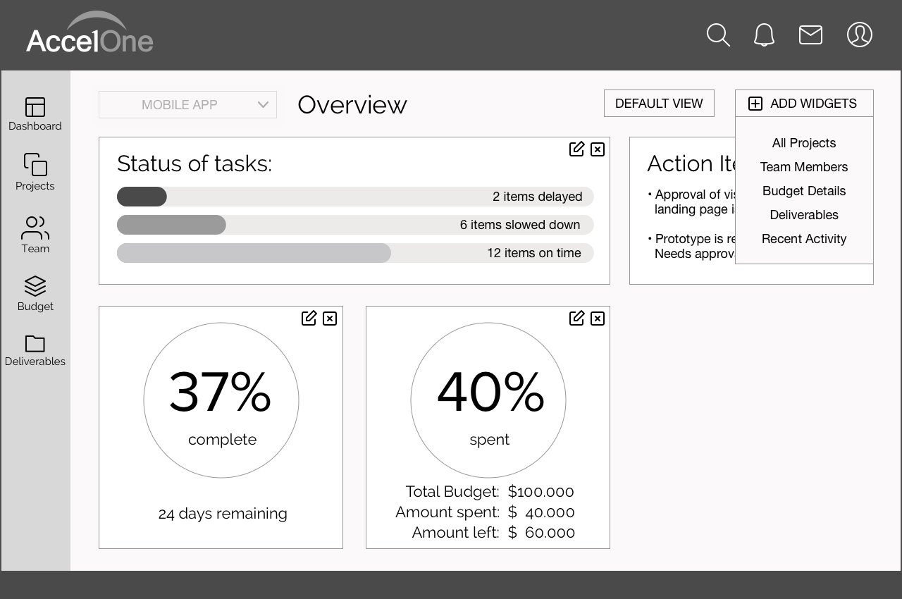 How to customize the dashboard