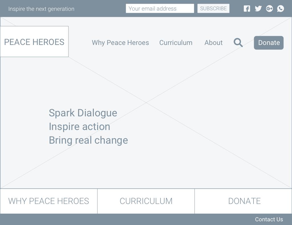 Homepage option 1