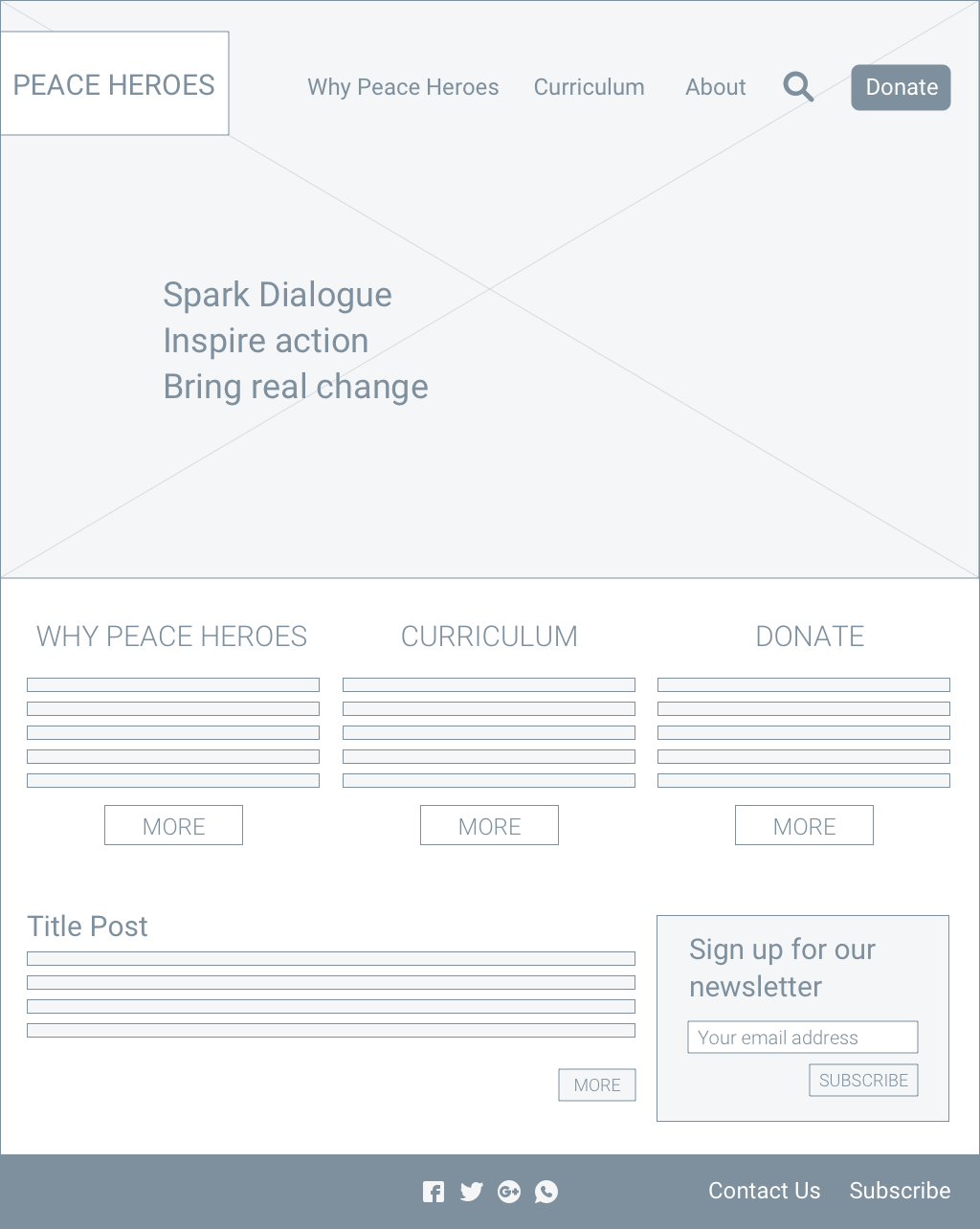 Homepage option 2