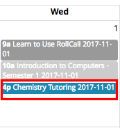 Click to take attendance