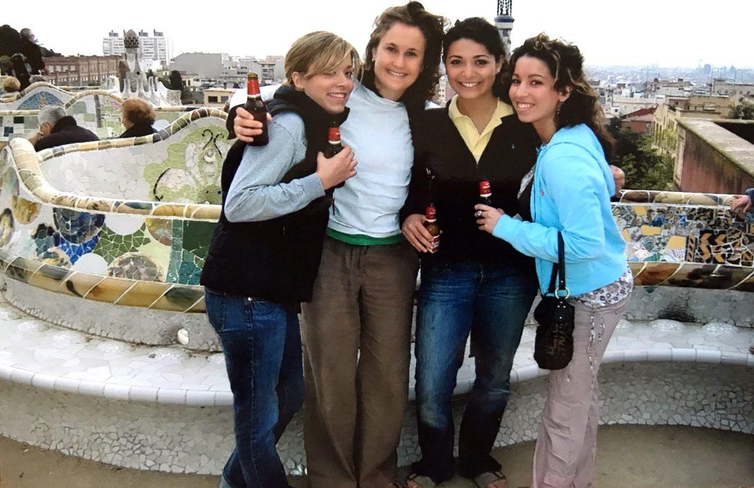 celebrating my 20th birthday on top of the gaudi park, barcelona