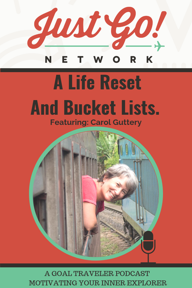 GOAL TRAVELER-PODCAST- JUST GO NETWORK-A LIFE RESET AND BUCKET LISTS