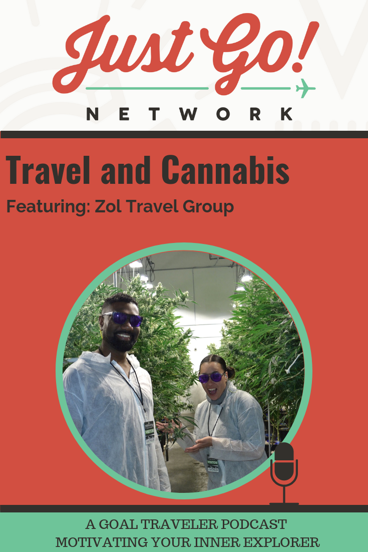 GOAL TRAVELER-PODCAST- JUST GO NETWORK-TRAVEL AND CANNABIS - ZOL TRAVEL GROUP