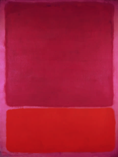 Judging by CritBot's reaction to Kate's red pants in the video, I wonder what it would think of 'Untitled (Red, Orange)' by Mark Rothko, 1961.