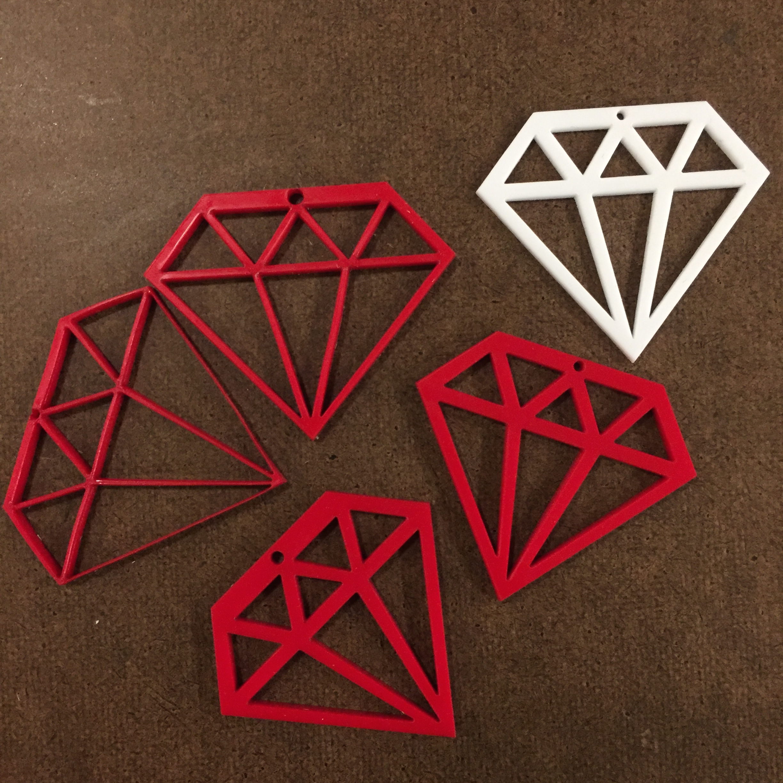 All the test runs vs. final white diamond