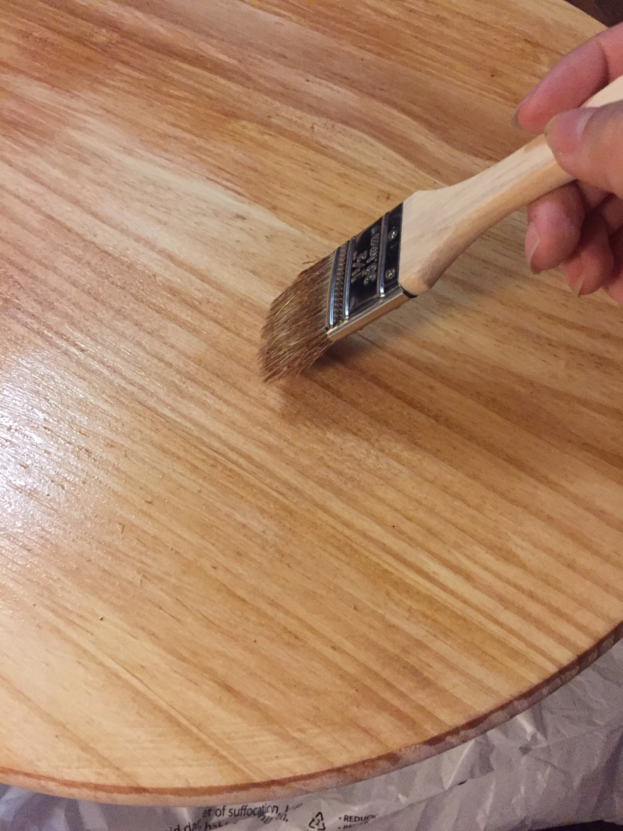 Shellac helps to seal the wood.