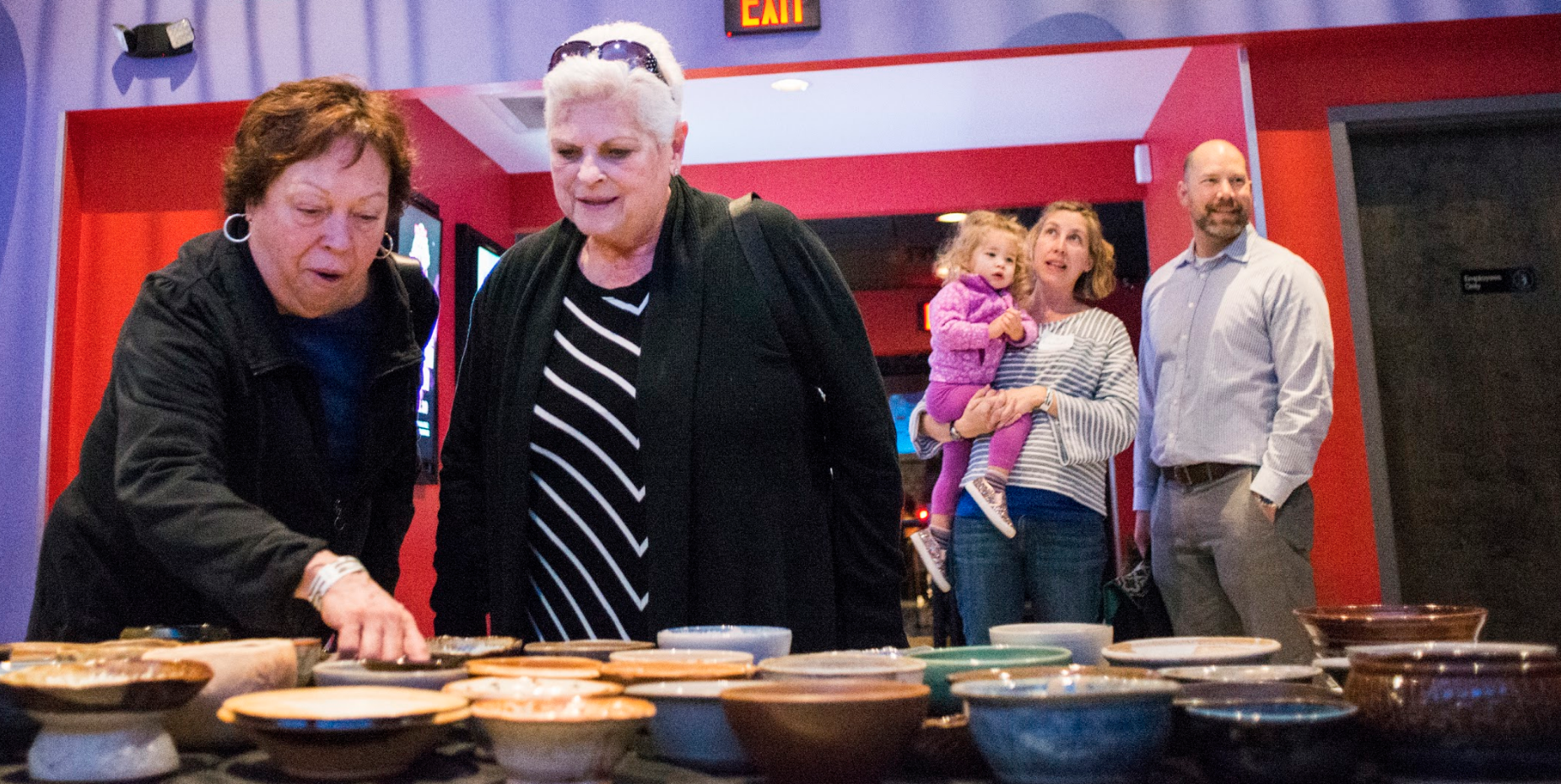 Attendees shopping for their Empty Bowl. Proceeds from this event support the fight against childhood hunger in Kentuckiana. March 3rd, 2018 | Play Dance Bar Photo: Christopher Fryer