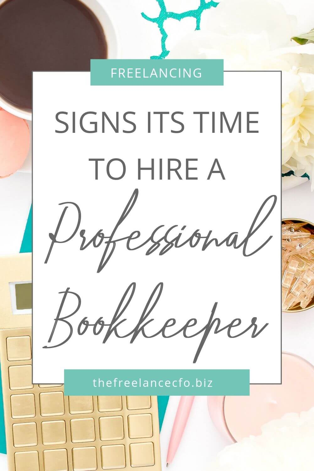 If you're having trouble keeping track of your business finances, it might be time to hire a bookkeeper or finance pro. Here are the other important things tot think about!