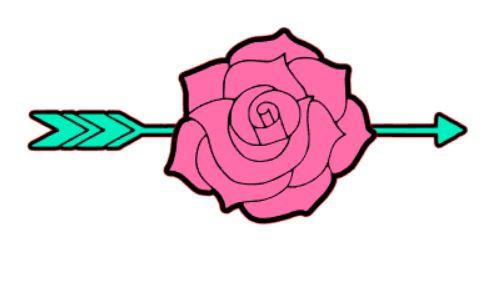rose arrow background cameo 201.JPG