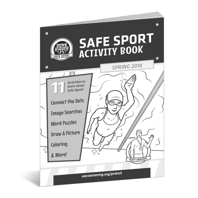 USA Swimming Safe Sport Activity Books Spring 2018 - Client: USA SwimmingAD: Natalie ElzingaIllustrators: Thomas Boucher & Courtney HicksBook Design: Thomas BoucherCharacters from the 2017 activity book were redesigned and given names, Liv and Remy. Along with the new cast was a character design for USA Swimming Athlete Matt Grevers.(Click image for more.)
